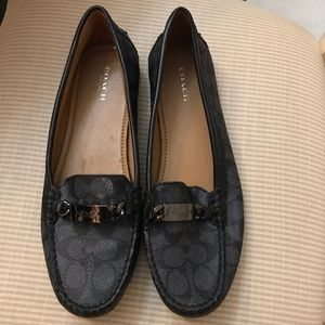 "Coach loafers/flats ""Olive"" gray with black accent"
